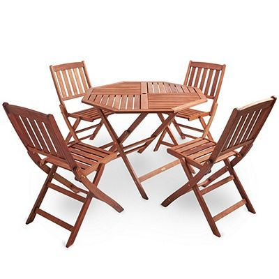 Lovely Folding Table with 4 Chairs