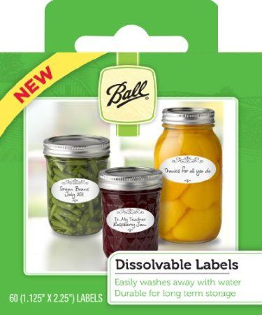 ball dissolvable labels set of 60 amazon com kitchen dining