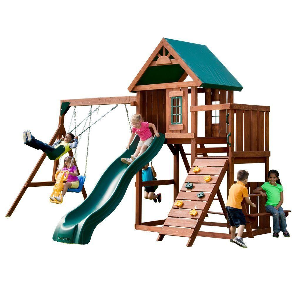 swing n slide playsets knightsbridge wood complete playset browns