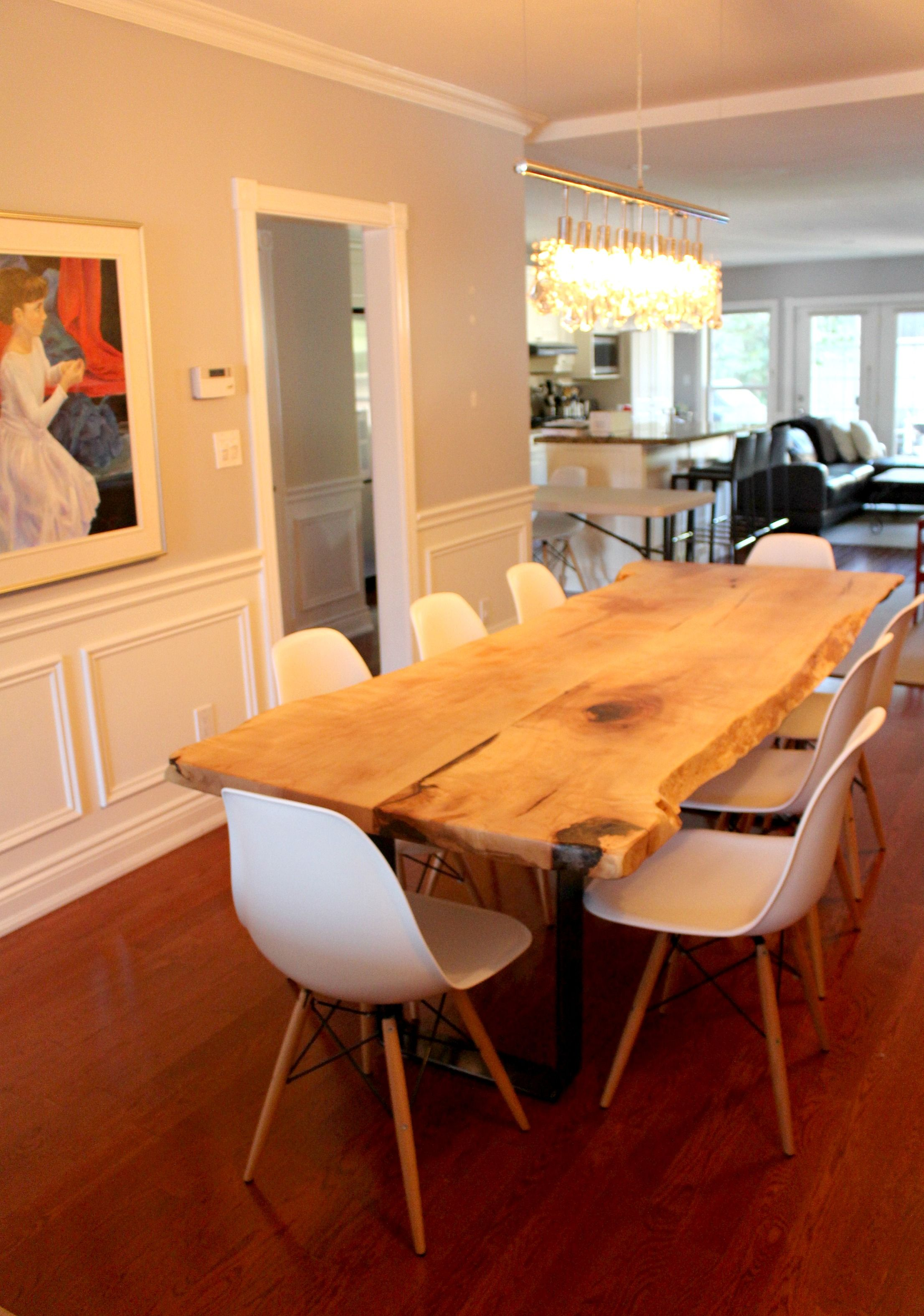 Live Edge Silver Maple Table  For My Home Pinterest  Desk Extraordinary Maple Dining Room Table Decorating Design