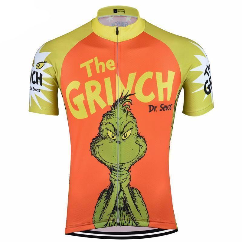 5e0fafe85 The Grinch Dr Seuss Orange Cycling Jersey
