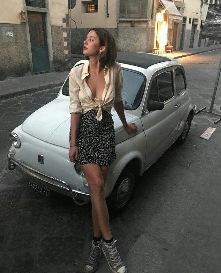 Fiat 500 おしゃれまとめの人気アイデア Pinterest Albert Rudman アウトドア ファッション レディース 車 女子 チンクエチェント