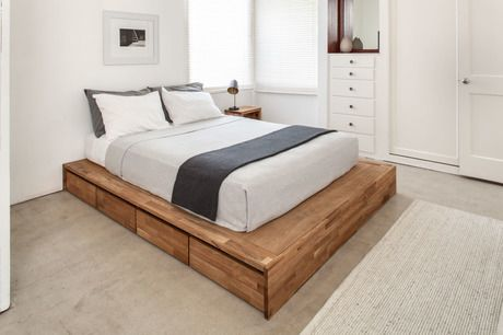 LAX Series Storage Platform Bed -   diy Bed Frame platform