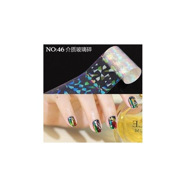 Nail Art Transfer Foil ($1.98) ❤ liked on Polyvore featuring beauty products, nail care and nail treatments