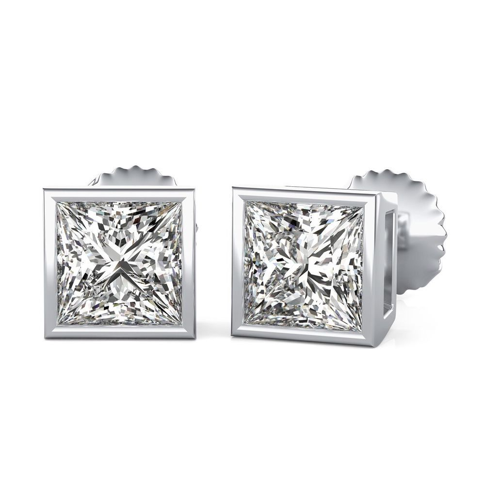 main stud set crystal earrings made with swarovski index bezel