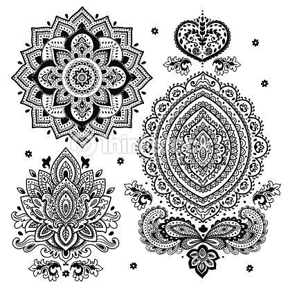 henna tattoo plantillas buscar con google tattos. Black Bedroom Furniture Sets. Home Design Ideas