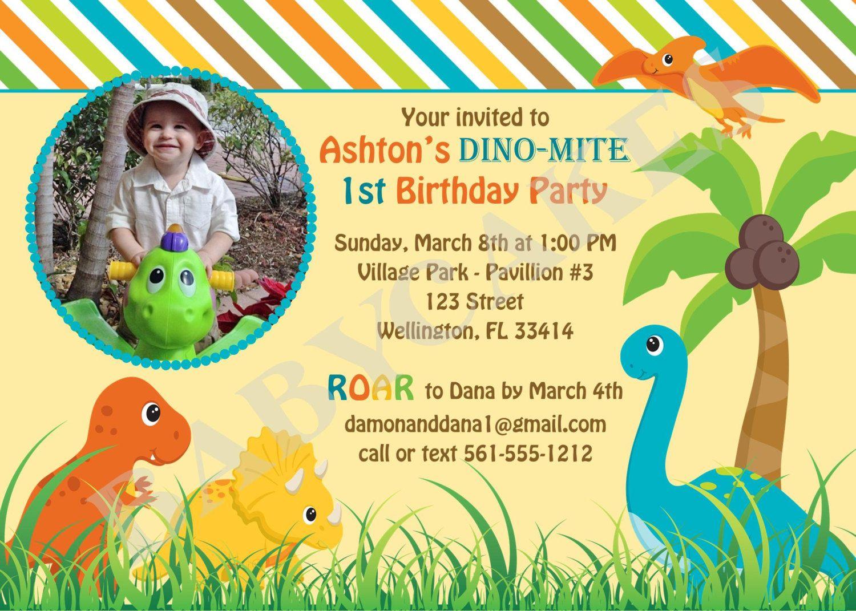 Birthday invites the best choice dinosaur birthday invita