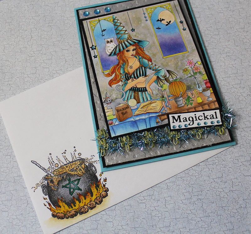 Magickal Witch  -  Handmade Greeting Card by EvermoreCardCreation on Etsy