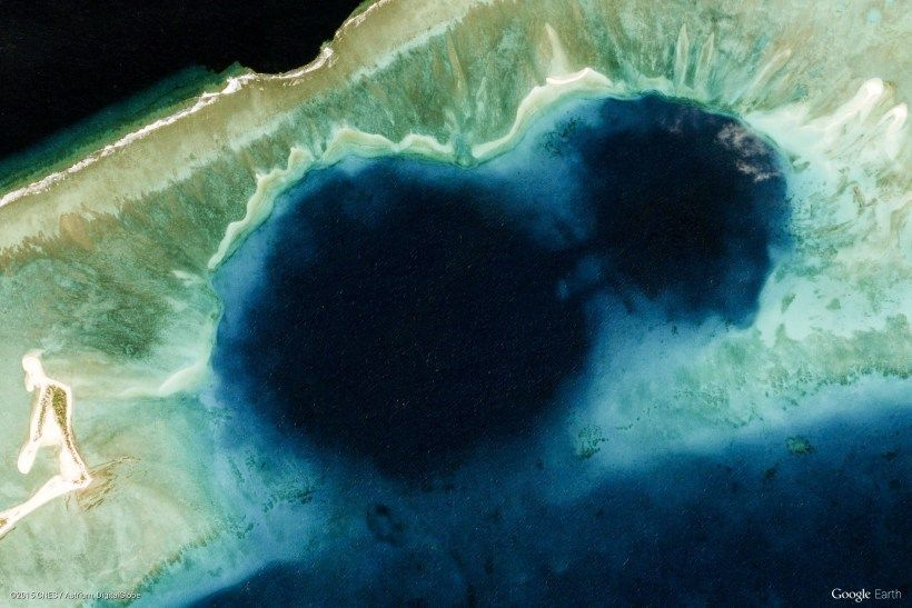 Bikini atoll google earth