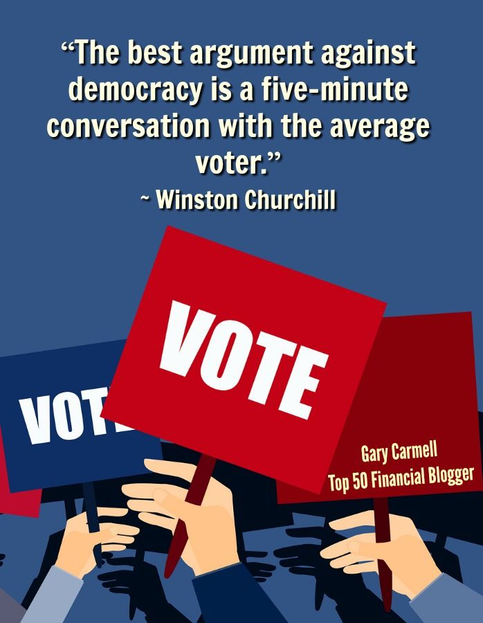 """The best argument against democracy is a 5-minute conversation with the average voter."" Winston Churchill http://bit.ly/29vq150"