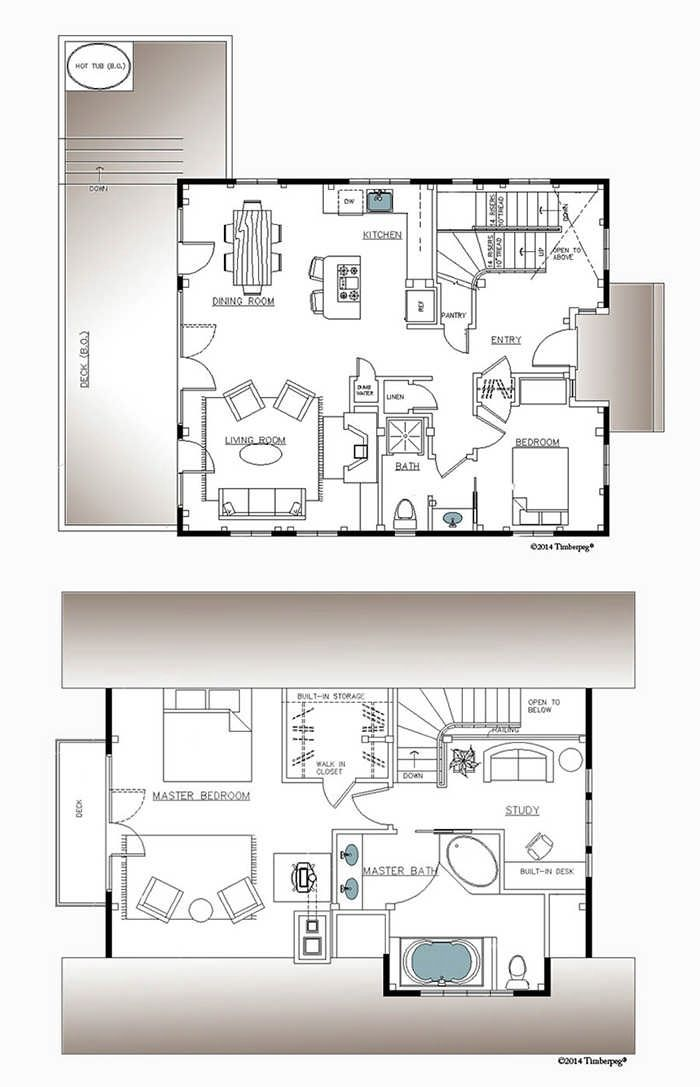 Hawk Mountain Timber Frame Floor Plan by Timberpeg | house plans and ...
