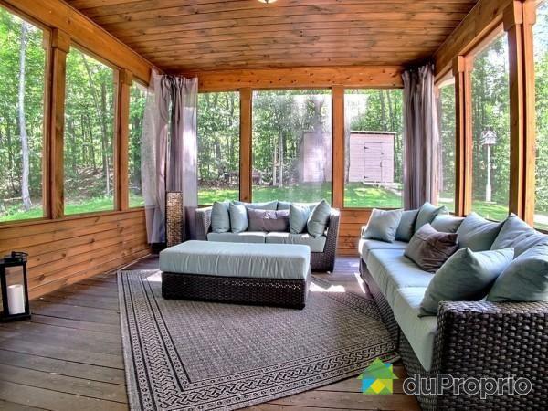 Veranda de rêve à voir à Ste-Anne-Des-Lacs #DuProprio (With images)   Outdoor furniture sets ...