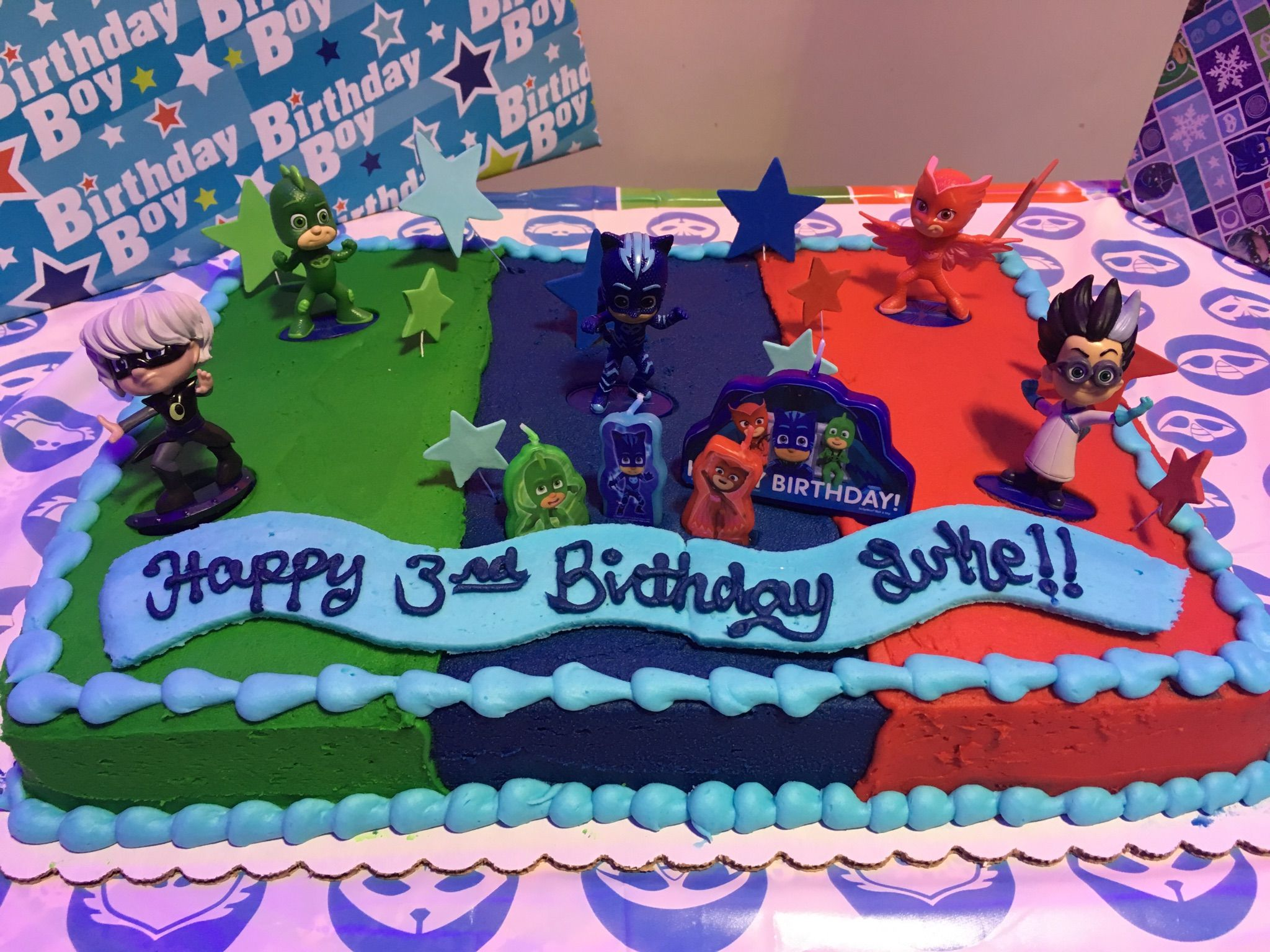 Pj Masks Cake Pjmasks With Images Pj Masks Birthday Pj Masks