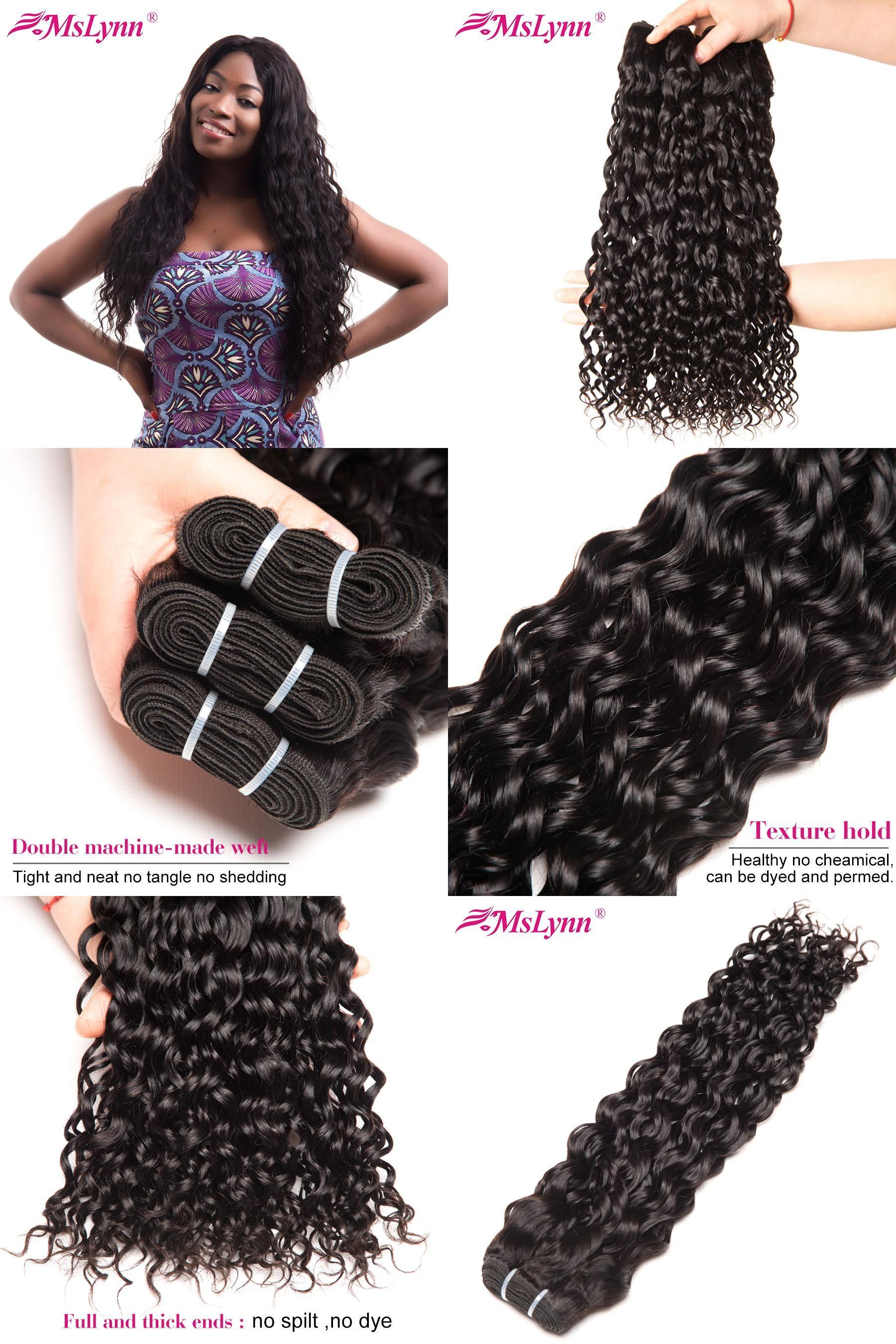 Visit To Buy Mslynn Hair Brazilian Water Wave Bundles 100 Human