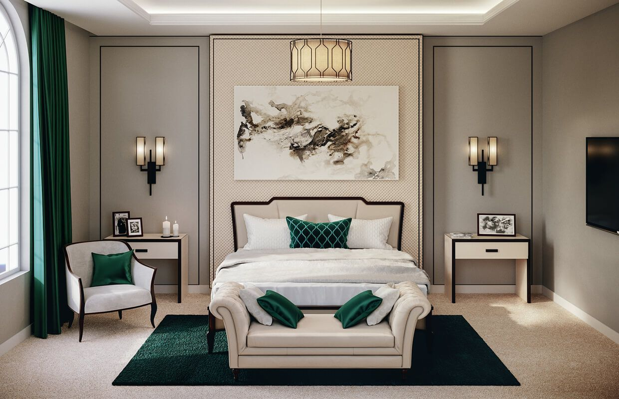 American Style House Interior Design In Dammam 5 A Comfortable And Relaxed Master Bedr Bedroom Interior American Style House Interiors Master Bedroom Interior Interior bedroom decoration images
