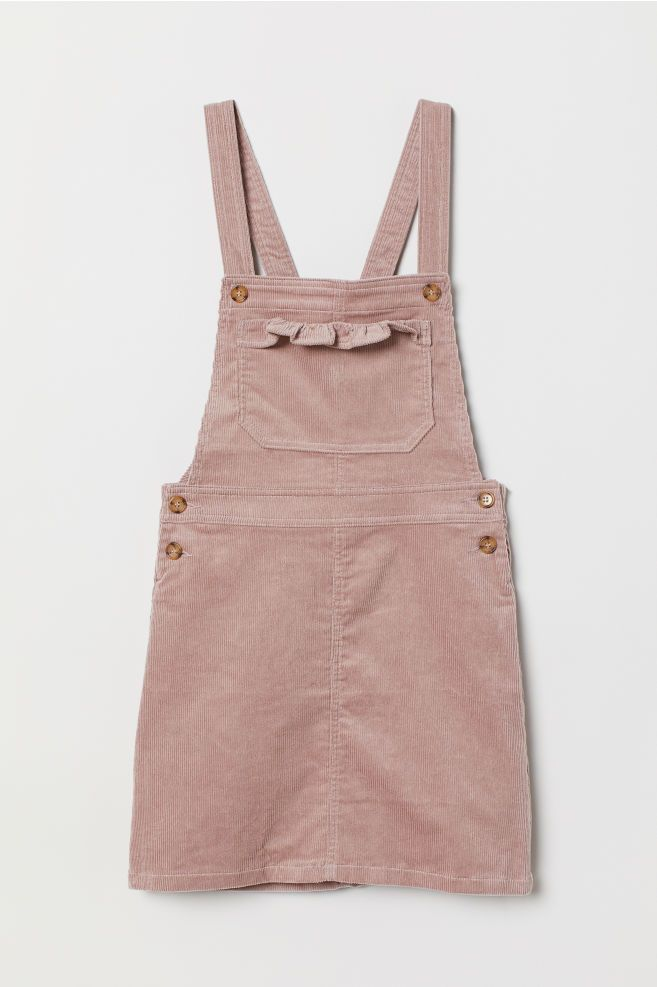 Photo of Corduroy overall kjole – støvete rose – damer | H&M USA