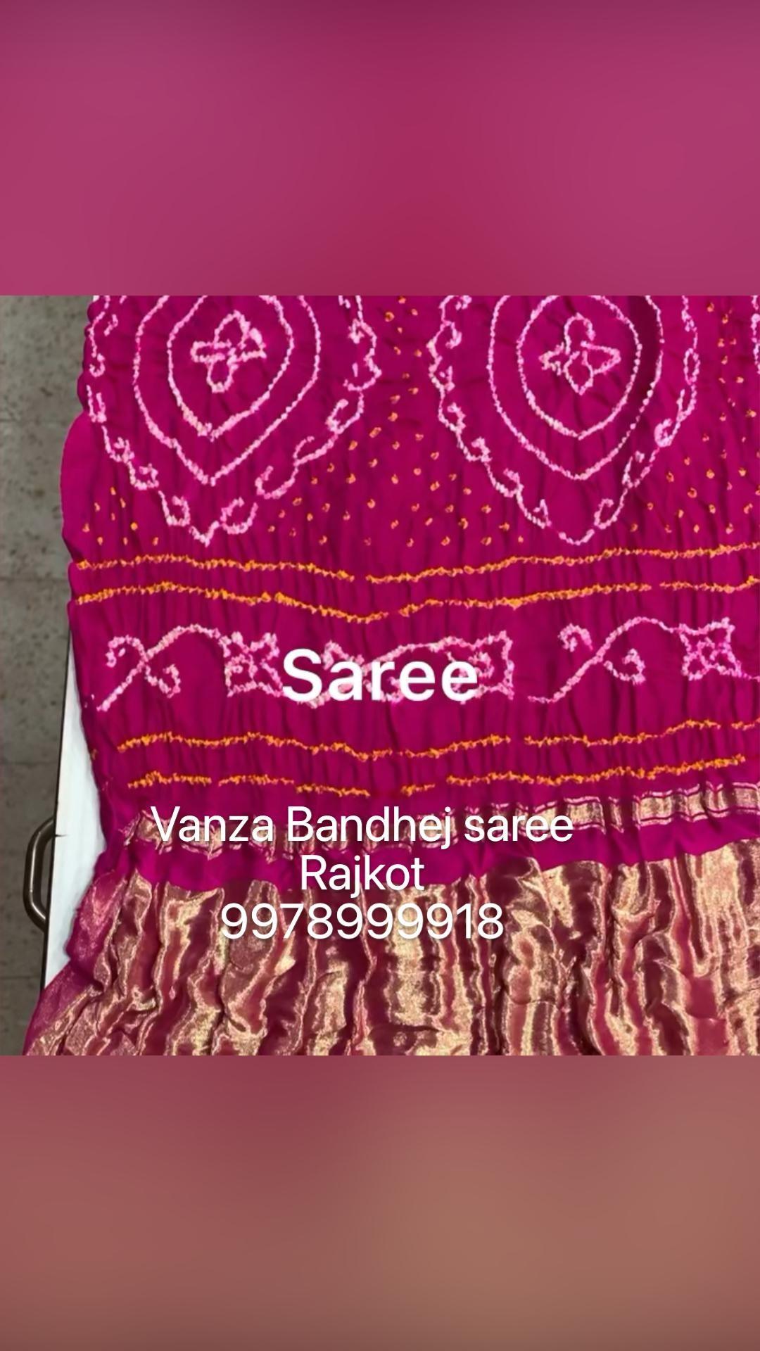 Vanza Bandhej saree  Rajkot  9978999918