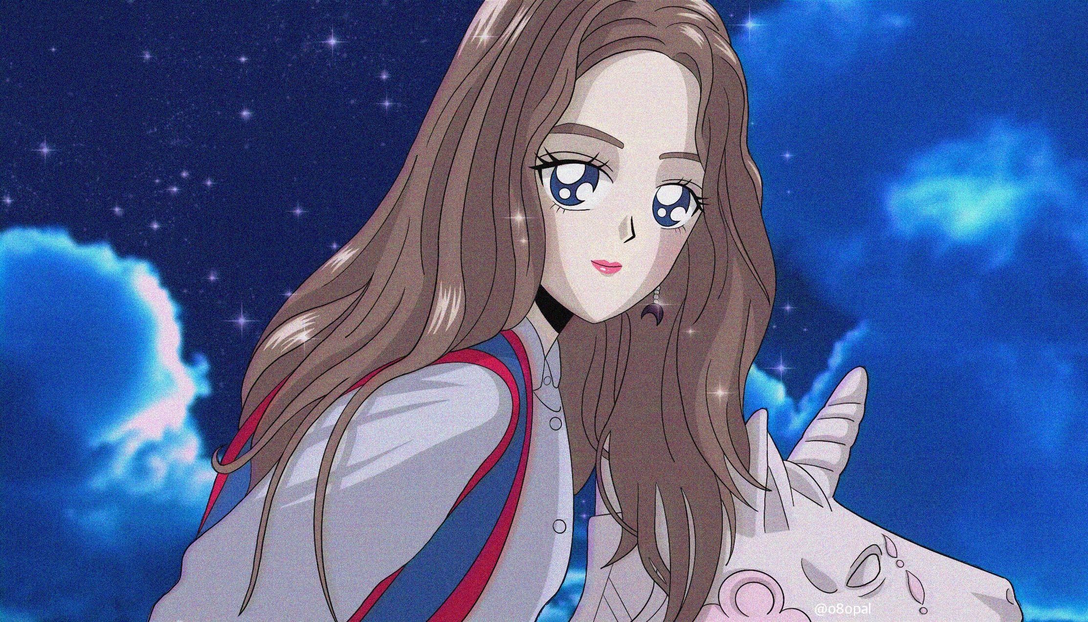 Redvelvet as 90s anime redvelvet zimzalabim 레드벨벳 짐살라빔