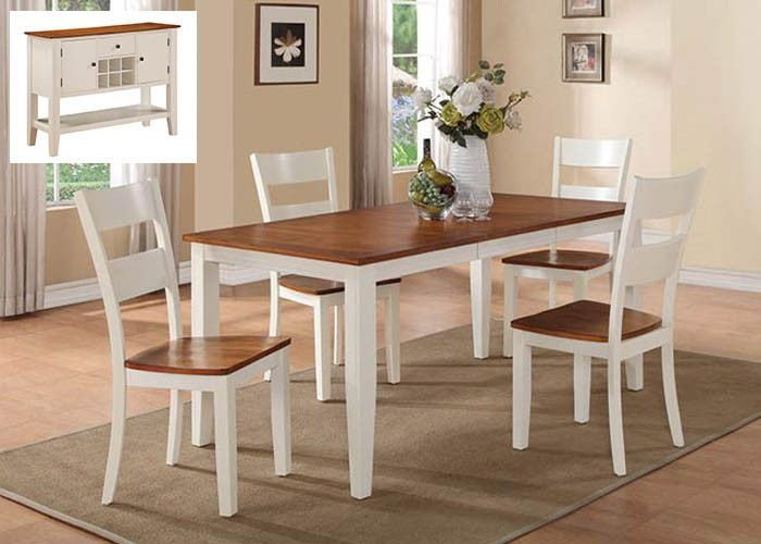8201 Spice & Buttermilk 5 Piece Dining Dining Table And Four