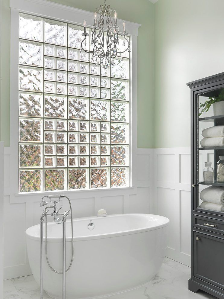 Glass Block Window Bathroom Modern With Hardware Contemporary