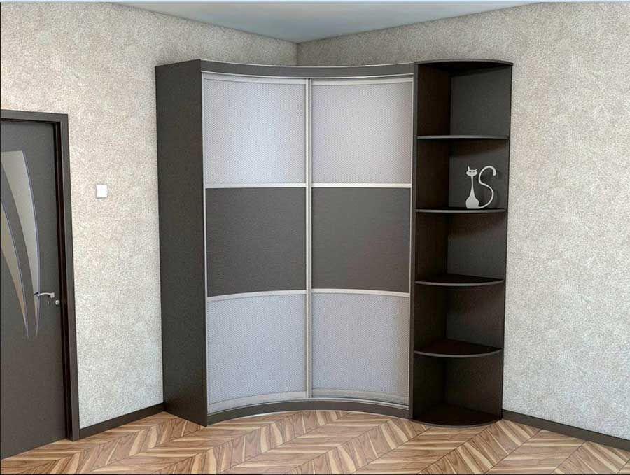 Corner wardrobe closet and corner shelves design for small ...
