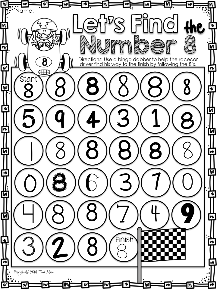 Freebie All About The Number Eight Math Centers Kindergarten Kindergarten Math Activities Teaching Math