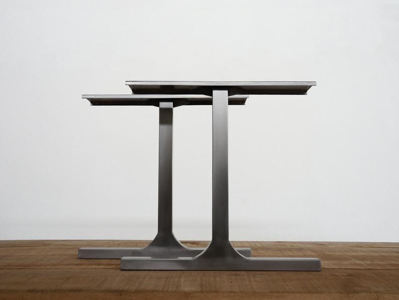 Modern Stainless Steel Table Legs 28 Single Bar