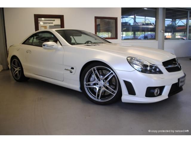 mercedes benz sl63 amg iwc edition in white diamond pearl