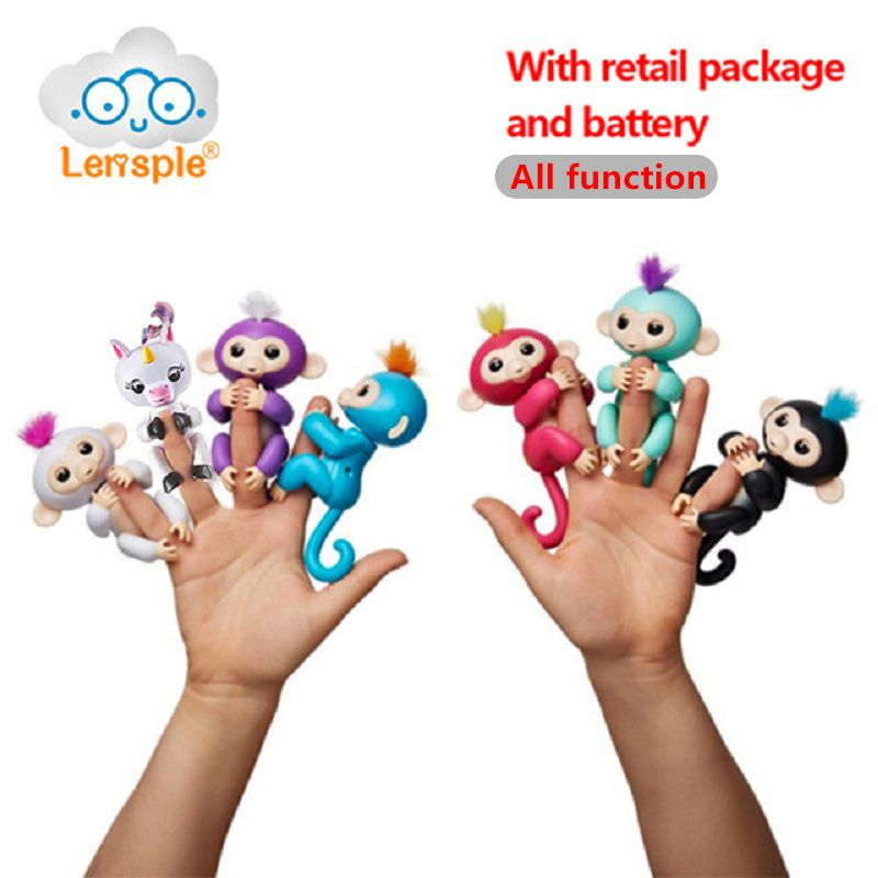 Lensple 6 Farbe Fingerlings Einhorn Interaktive Baby Affen Smart ...