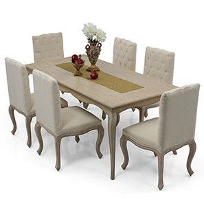 Lyon 6 Seater Dining Table Set (Natural Finish)  sc 1 st  Pinterest & Lyon 6 Seater Dining Table Set (Natural Finish) | Eat in style ...