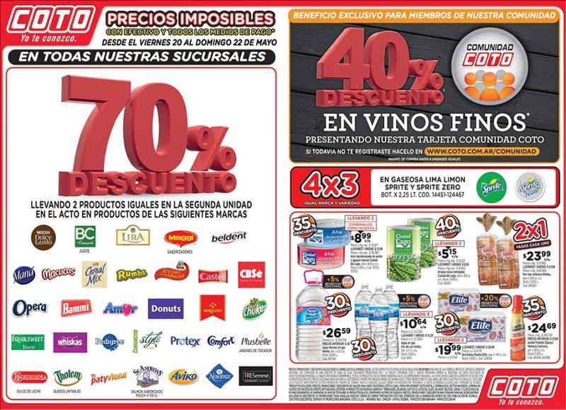 04f05aa4c Ofertas Coto Mayo 2016 22 De Mayo, Promociones Descuentos, Empresas,  Monopolio