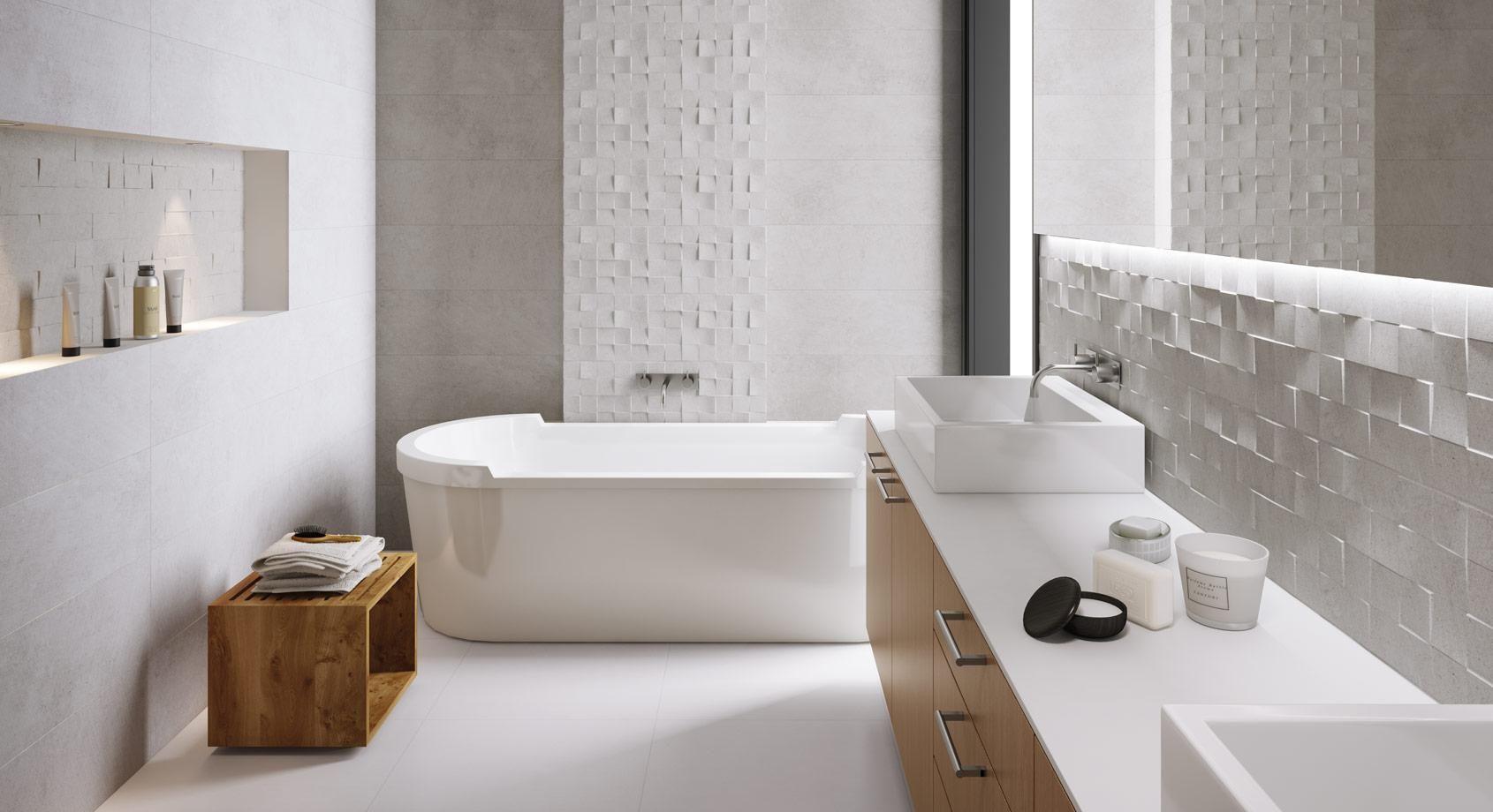 combinaciones de cerámica para baño
