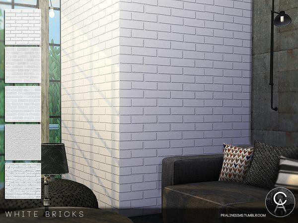 Pralinesims White Bricks Sims House White Brick Sims 4 Houses