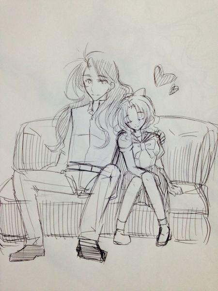 Nephrite and Naru 後ろからぎゅーっていいよね by のい on pixiv