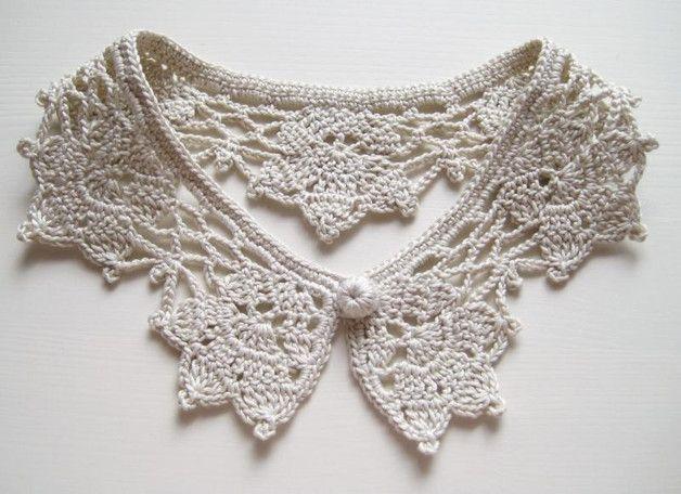Kragen Der Ihr Kleid Oder Pullover Verschönert Der Häkelkragen