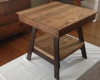 Reclaimed End Table by FarmGateDesigns on Etsy