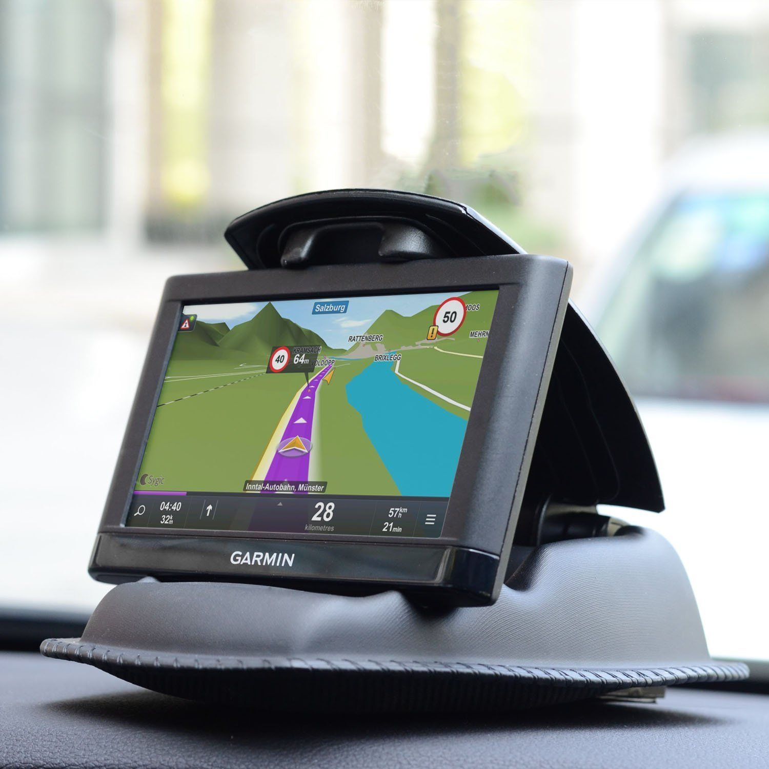Car Phone Holder with Portable Dashboard Beanbag Friction Mount