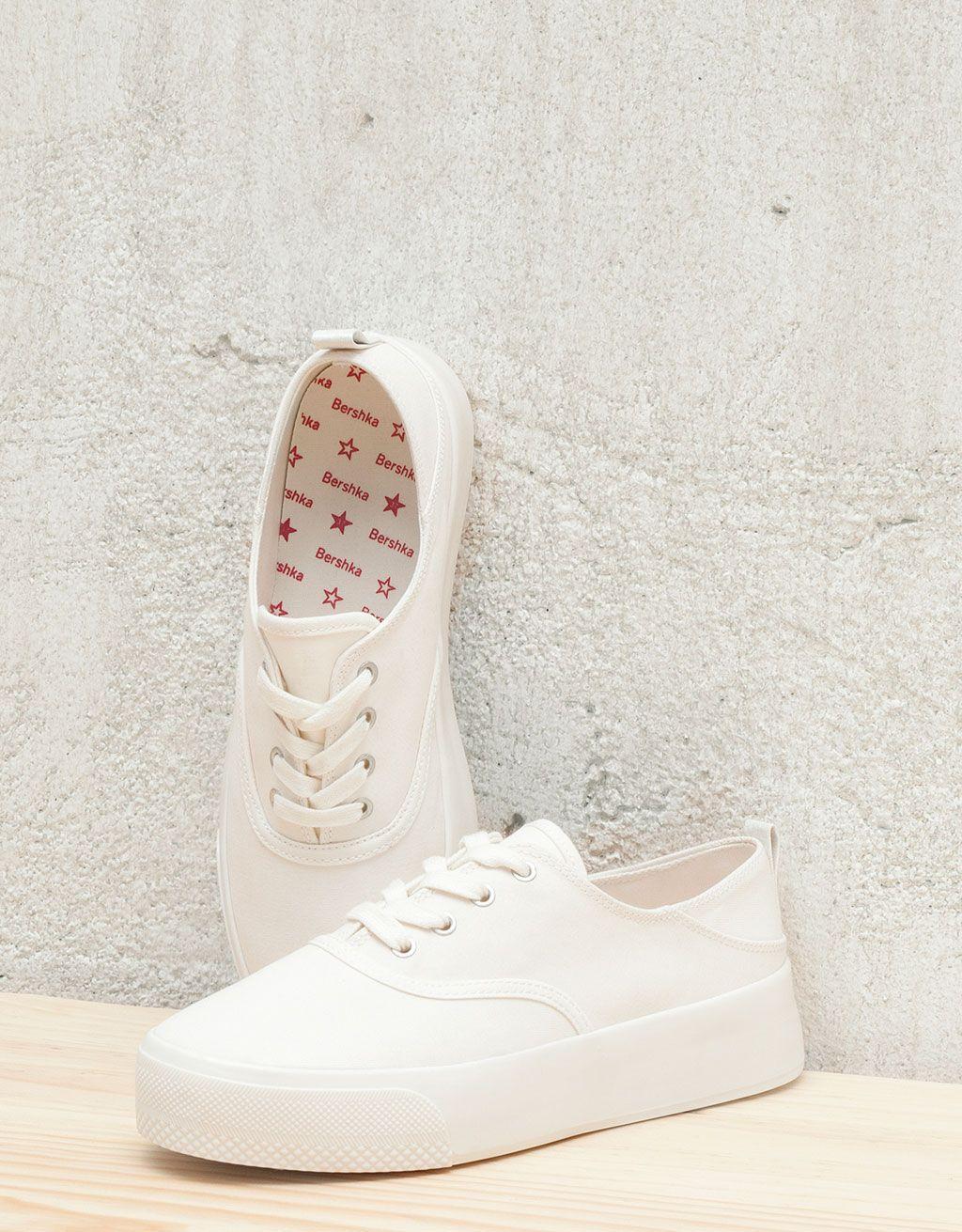 Zapatillas plataforma brancas