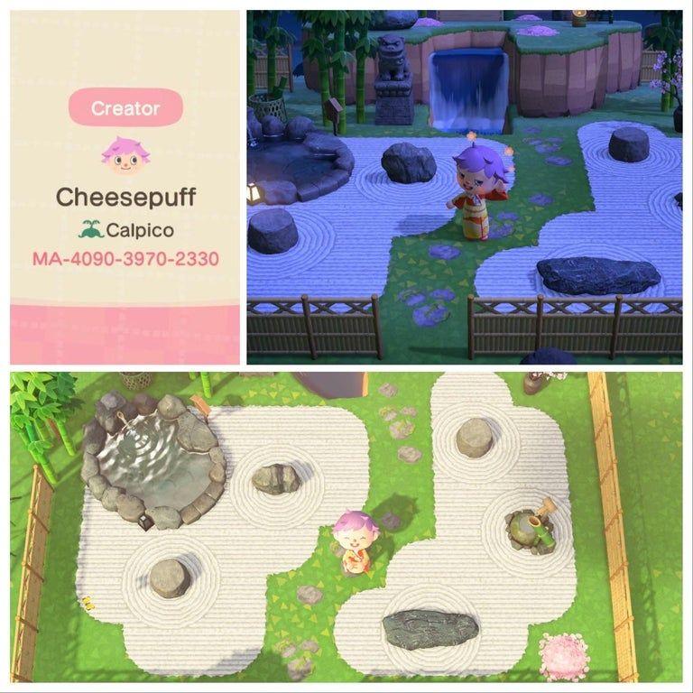 Rock Garden Ideas Animal Crossing
