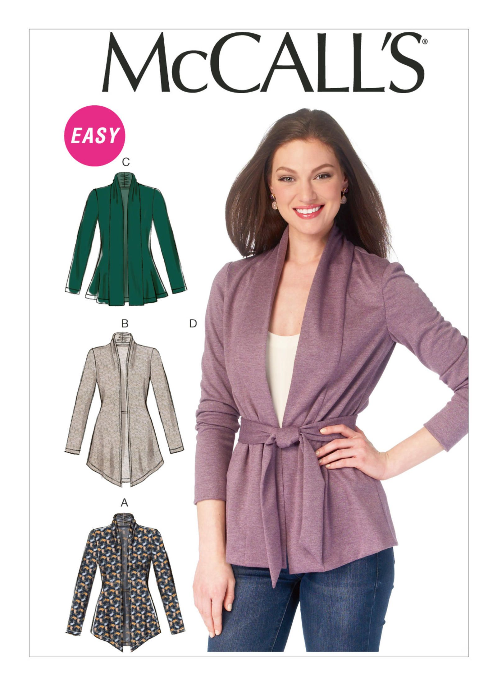 Pattern Review: McCalls 6996 Cardigan (Gorgeous Fabrics\' Blog ...