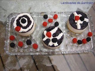 Lamboadas de Samhaim: Minis de queso con arándanos