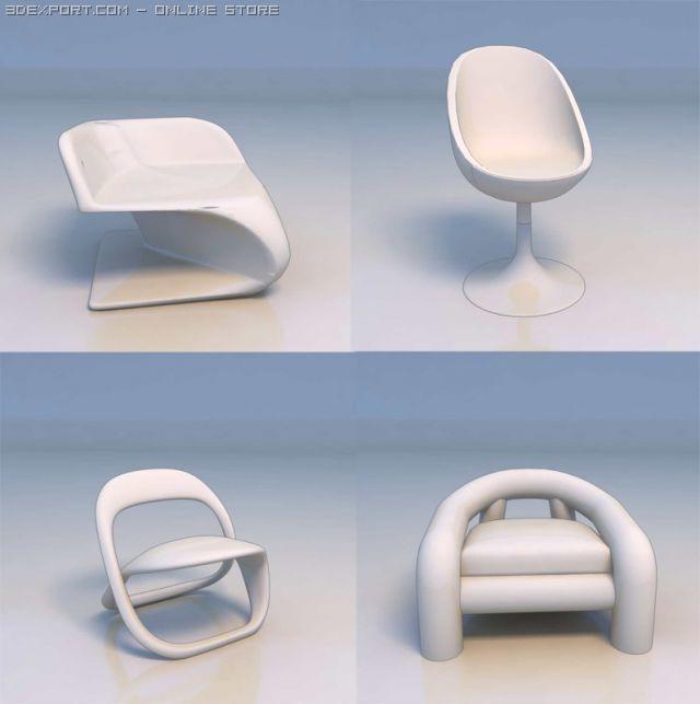 3D Model Chair couch c4d, obj, 3ds, fbx, ma, lwo 16841