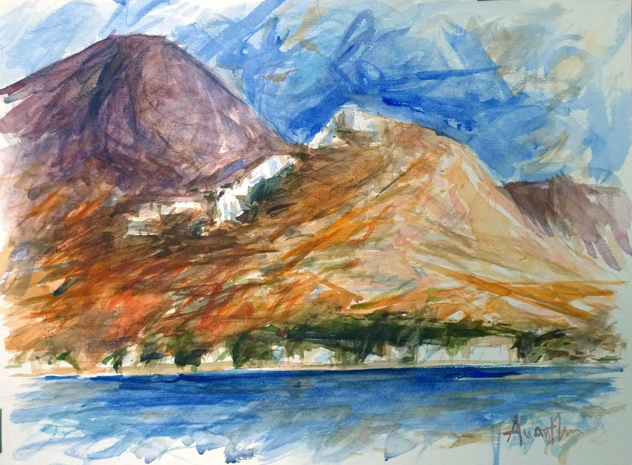 Serifos island (watercolor on paper)