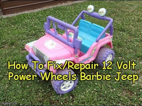How To Repair Fix Power Wheels Barbie Jeep 12 Volt Electric