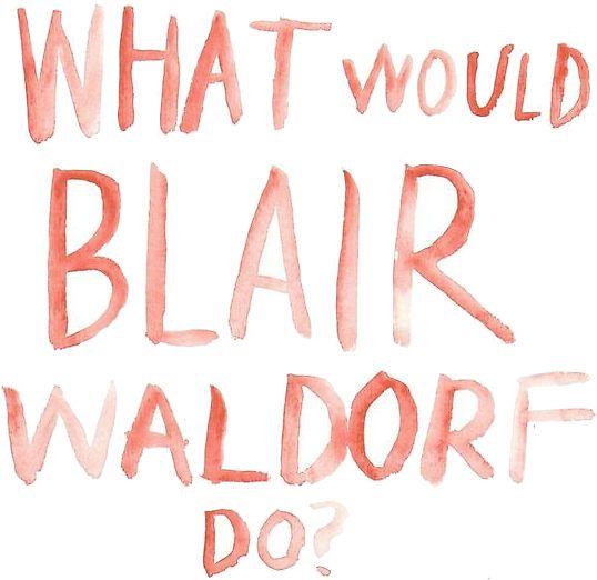 gossip girl what would blair waldorf do watercolor - Blair Waldorf Wohnheim Zimmer