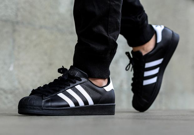 adidas Superstar - Black - White - SneakerNews.com