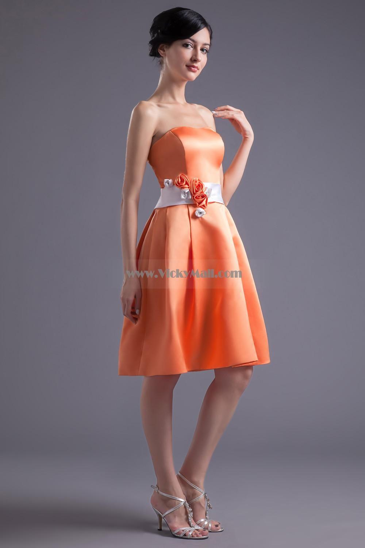 Orange bridesmaid dresses minus the roses shanis day orange bridesmaid dresses minus the roses ombrellifo Choice Image