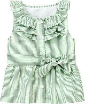 Green Seersucker Top...so cute