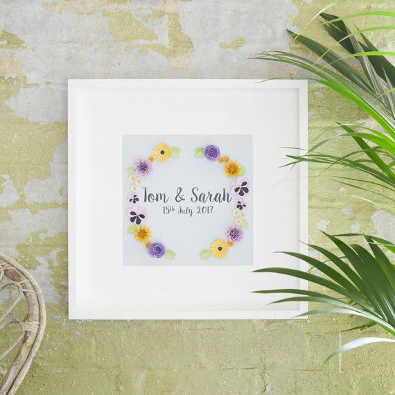 Personalised Wedding Gift Present Anniversary Wall Art Engagement Ideas For Framed