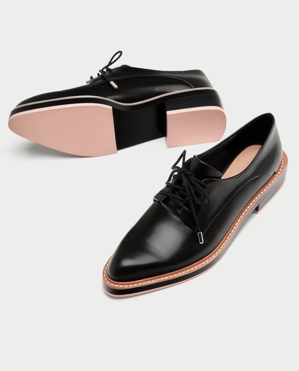 Zara Woman Derby Shoes With Coloured Soles Extravagante Schuhe Schuhe Damen Schuhe Frauen